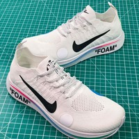 Off White X Nike Zoom Fly Mercurial Flyknit Ow 2018 World Cup White Sport Running Shoes - Best Online Sale