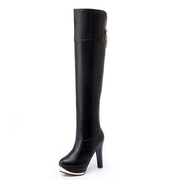 Womens Hot Popular Knee High Boots