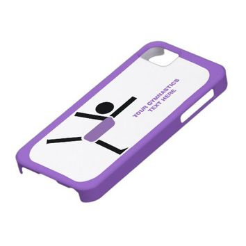 Gymnastics gifts, gymnastics performer custom iPhone 5 cases from Zazzle.com