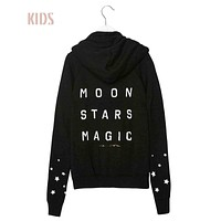 moon stars magic hoodie kids