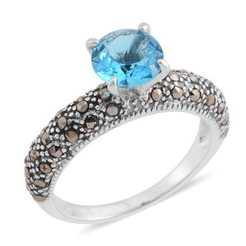 Swiss Marcasite Sterling Silver Ring