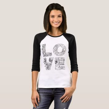 LOVE unique decorative text T-Shirt
