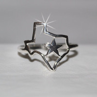 Texas Ring - Sterling Texas Ring - Texas - Silver Ring