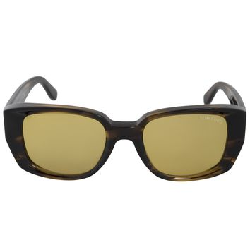 Tom Ford Raphael Square Sunglasses FT0492 041E 52 | Multicolored Brown Frame | Yellow Lenses