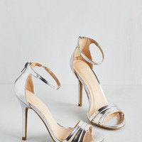 Luxe Sought-After Sophistication Heel in Silver by ModCloth