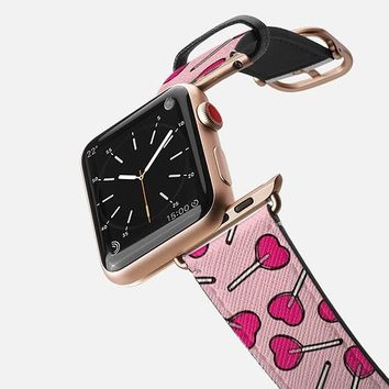 Casetify Apple Watch Band (42mm) Case - Lollipop Love by Allison Reich
