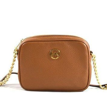 Michael Kors Fulton Mini Leather Crossbody Bag Purse Handbag