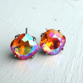 Sterling Silver and Swarovski Crystal Studs