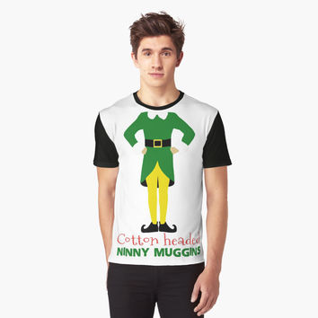 'Buddy the Elf cotton headed ninny muggins' Graphic T-Shirt by birchandbark