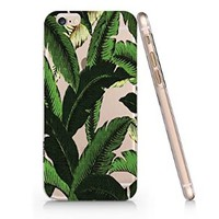 Bananas Leaves Pattern Slim Iphone 6 Case, Clear Iphone 6 Case Plastic Hard Case Unique Design-Quindyshop (AMSL90)
