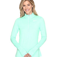 Nike Dri-FIT™ Element Half Zip Electro Green/Heather/Reflective Silver - Zappos.com Free Shipping BOTH Ways
