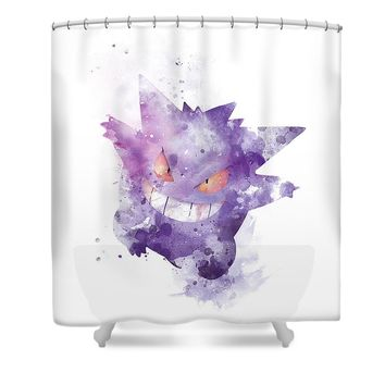 Pokemon Gengar Shower Curtain