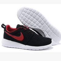NIKE Women Men Running Sport Casual Shoes Black Red