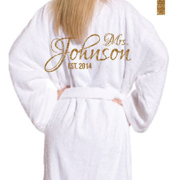 White Terry Velour Bathrobe