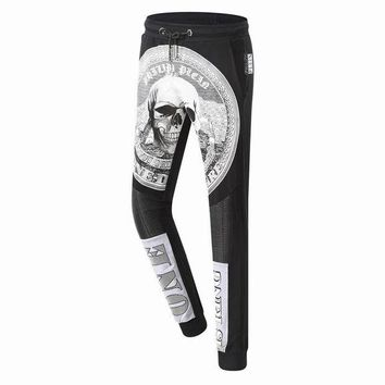 DCCKUN2 Philipp Plein Women or Men Fashion Casual Pattern Print Pants Trousers