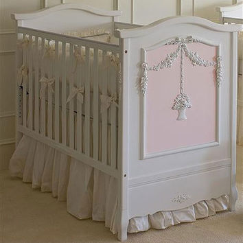 Floral Bouquet Crib in Pink