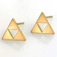 Triforce earrings on the redditgifts Marketplace