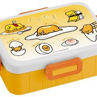 Skater 4-point lock lunch box 650ml Gudetama
