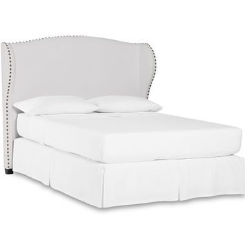 Raleigh Upholstered Nailhead Wingback Bed & Headboard