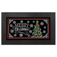 Light-Up 18-Inch x 30-Inch LED Christmas Chalkboard Door Mat
