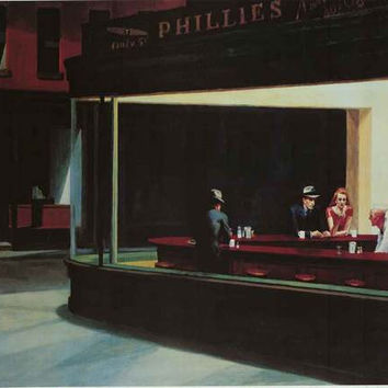 Edward Hopper Nighthawks Poster 24x36