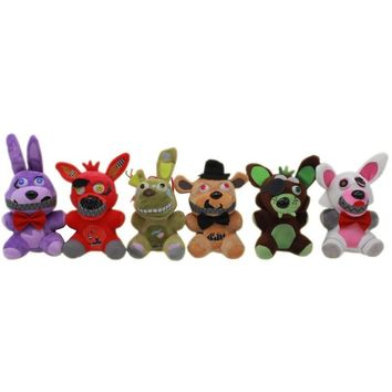 New Arrival  At  4  Plush Toys Doll 15cm Freddy Bear Foxy Bonnie Plush Stuffed Animals Toys for Kids Gift