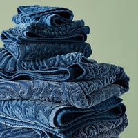 Kassatex Francesca Sculpted Paisley Towel Collection