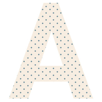 Delicate Polka Dot Patterned Letter Wall Decal