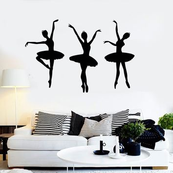 Vinyl Wall Decal Ballerina Ballet Dancers Dance Room Stickers Unique Gift (ig4072)