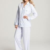 Lauren Ralph Lauren Bingham Knit Classic Notch Collar PJ Set | Bloomingdale's