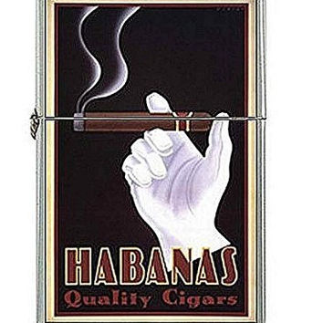 Vintage Poster Hananas Cigar Flip Top Lighter and Metal Gift Box