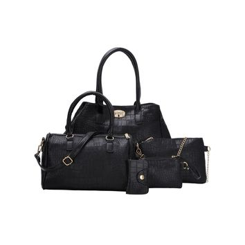 5-Piece Faux Leather Bag Set