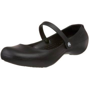 crocs Women`s Alice Mary Jane,Black,7 M US