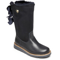 Armani Girls High-Top Navy Boots