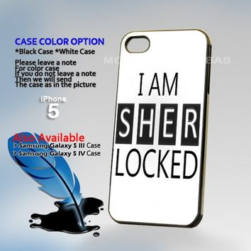 Sherlock Holmes white, Photo Hard Plastic iPhone 5 Case Cover