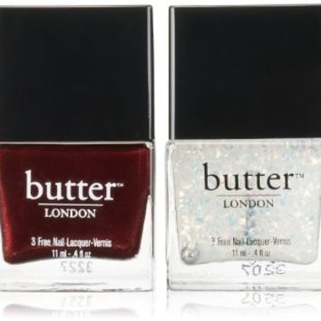 butter LONDON Fire Lacquer and Overcoat Duo