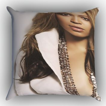 beyonce Y0494 Zippered Pillows  Covers 16x16, 18x18, 20x20 Inches