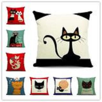 Cushion Cat Print Pillow Home Decorative Pillows
