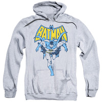 BATMAN/VINTAGE RUN-ADULT PULL-OVER HOODIE-ATHLETIC HEATHER