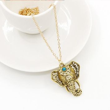 Elephant Necklaces Pendants Choker Long Link Statement Charm Women Jewelry