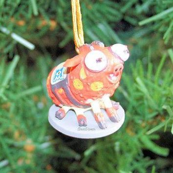 Licensed cool NEW Disney Monsters University ARCHIE SCARE PIG Christmas Holiday Ornament PVC