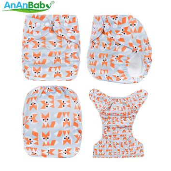 Free Shipping Pocket Diaper AnAnBaby Baby Washable Reusable Diapers BTP Wrap Diapers Cover Pocket Modern Cloth Diapers Nappies