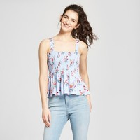 Women's Floral Smocked Tank Top - Mossimo Supply Co.™ Blue