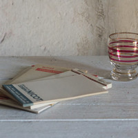 ON SALE Vintage Note Pads // Promotional French Bar Order Papers