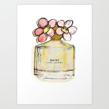 Daisy - Marc Jacob's Perfume Illustrated Art Print by Amy Frances Illustration