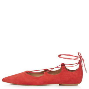 KINGDOM Ghillie Pointed Shoes - Red