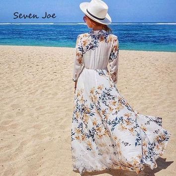 DCCKF4S Seven Joe Beach Cover Up Swimsuit Cover Up Beach Towel Dress Swimsuit Skirt Loose large yards Chiffon Sunscreen Thin Cardigan