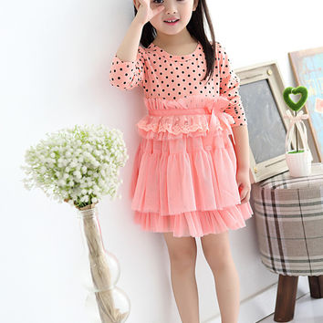 Baby Toddler Girl Dress winter Teenagers Long Sleeve kids Dresses for girls Clothes Children Clothing tutu Princess dress girl