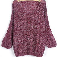 Cupshe Just Female Hollow Oversized Sweater