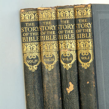1940 Christian Books, The Story of the Bible, Instant Complete Collection